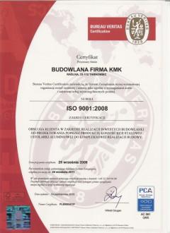 Certyfikat iso 9001-2008